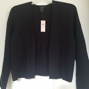 NWT Ann Taylor Black Open Front Cardigan Sweater